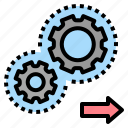 engine, implementary, mechanism, process, system icon
