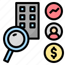 analysis, business, research, screening, statistic icon