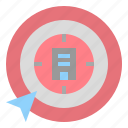 aim, company, goal, point, target icon