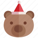 bear, christmas, gift, holiday icon