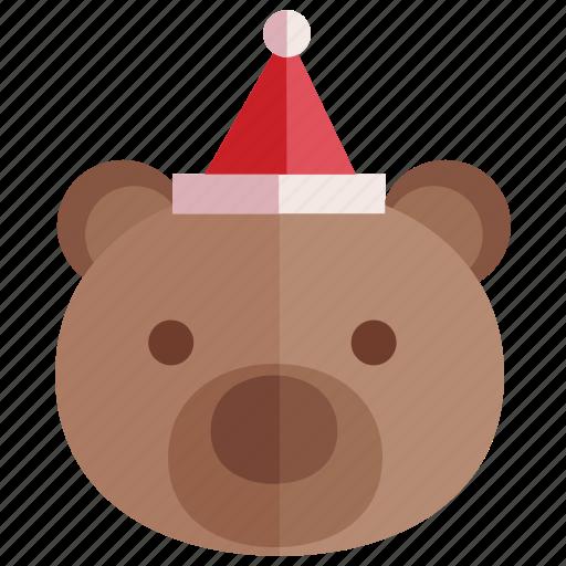 bear, christmas, gift, holiday icon