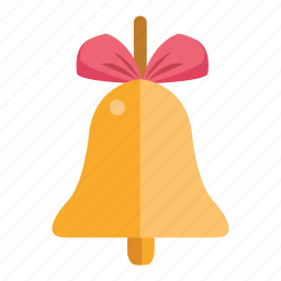 bell, bow, christmas, gift, holiday icon