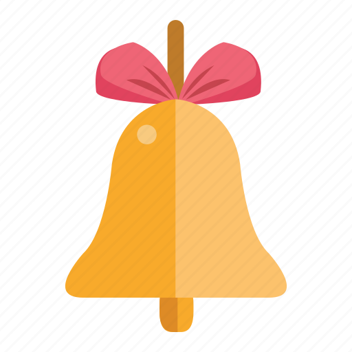 Bell Bow Christmas Gift Holiday Icon