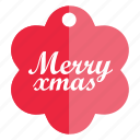 christmas, christmas tag, holiday, tag icon