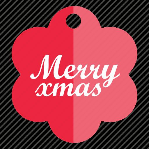 christmas, christmas tag, holiday, tag icon