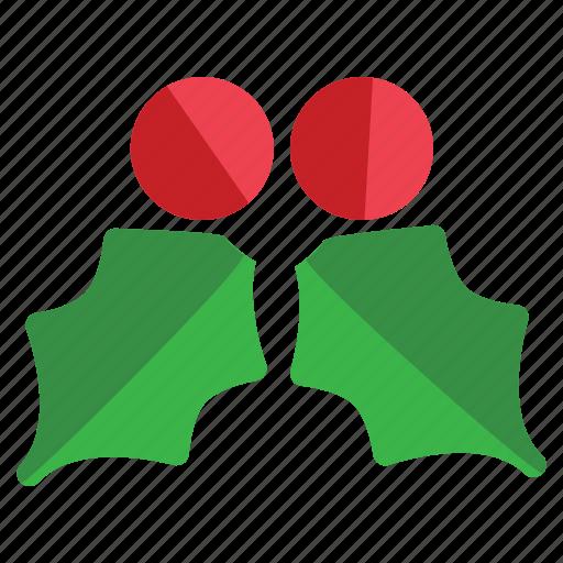 christmas, holiday, mistletoe icon