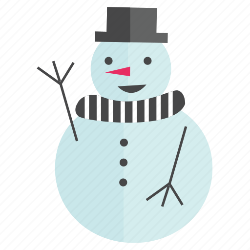 christmas, holiday, man, snow, snow man icon