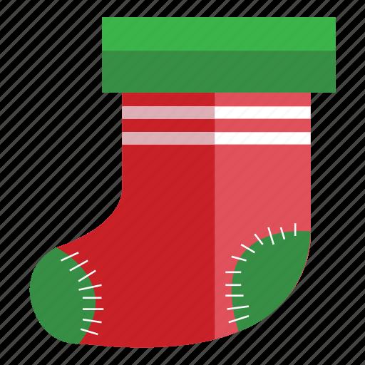 christmas, holiday, sock icon