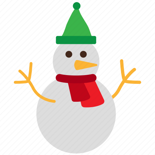 christmas, snowman, winter icon