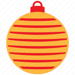 christmas, decor, holiday, ornament, red, tree icon