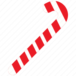 candy, cane, christmas, decoration, holiday, ornament, peppermint icon