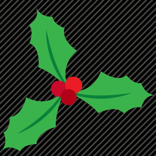 berries, christmas, decoration, kiss, leaves, mistletoe icon