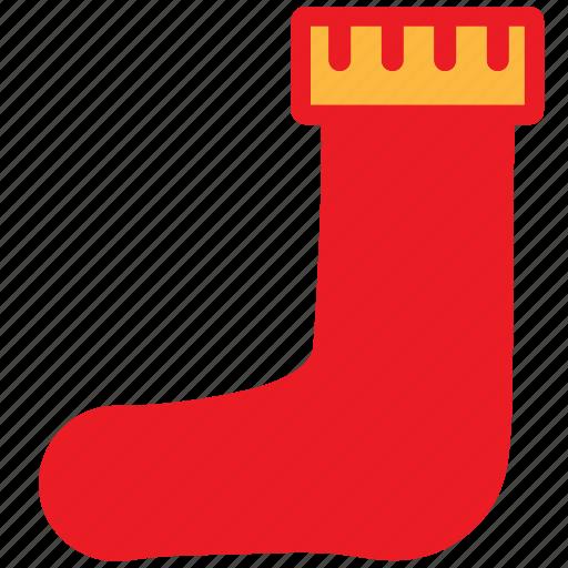 christmas, decoration, holiday, sock, stocking, stuffer, xmas icon