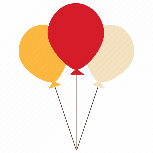 balloons, birthday, celebration, decoration, festival icon