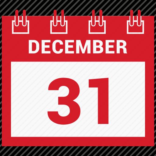 31 december, calendar, celebration, christmas, day, december icon