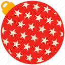 ball, christmas, holiday, star icon