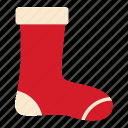 christmas, decoration, holiday, sock, stocking icon