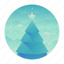 star, tree, christmas, celebration