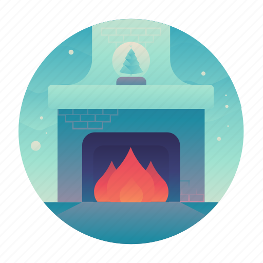Christmas, fire, fireplace, living room icon - Download on Iconfinder