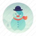 christmas, cold, snow, snowman