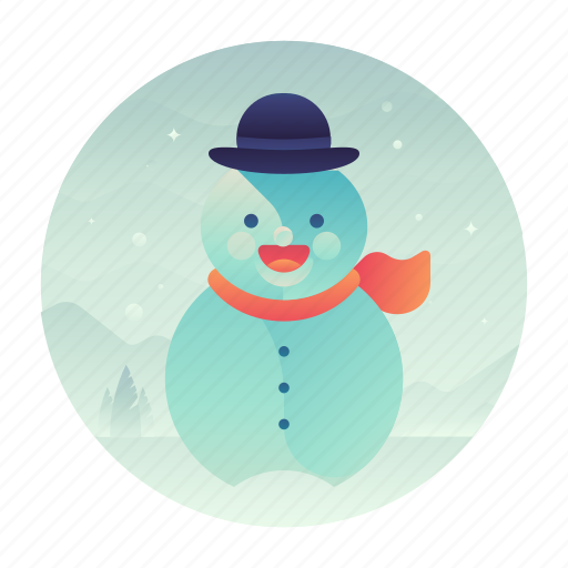 christmas, cold, snow, snowman icon