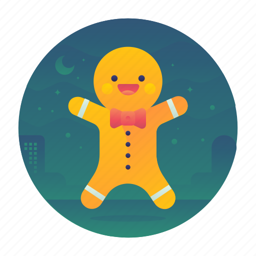 christmas, cookie, gingerbread man, sweets icon