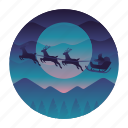 christmas, claus, reindeer, santa icon