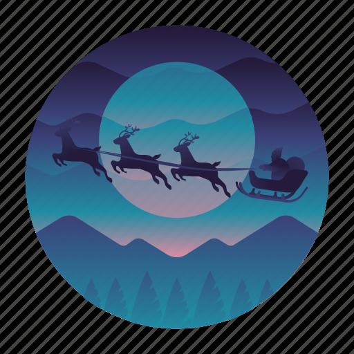 Christmas, claus, reindeer, santa icon - Download on Iconfinder