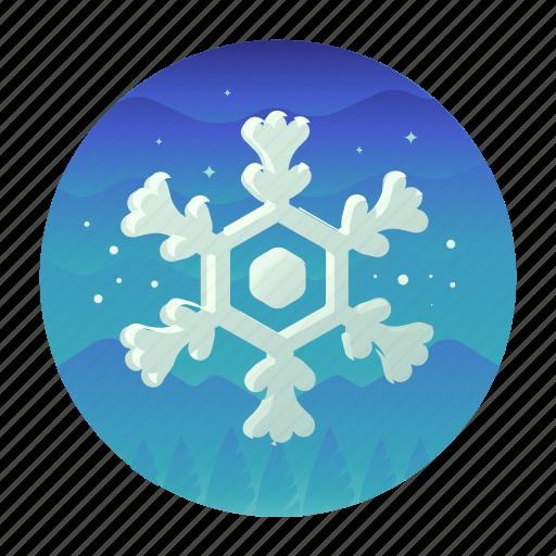 christmas, cold, snow, snowflake icon