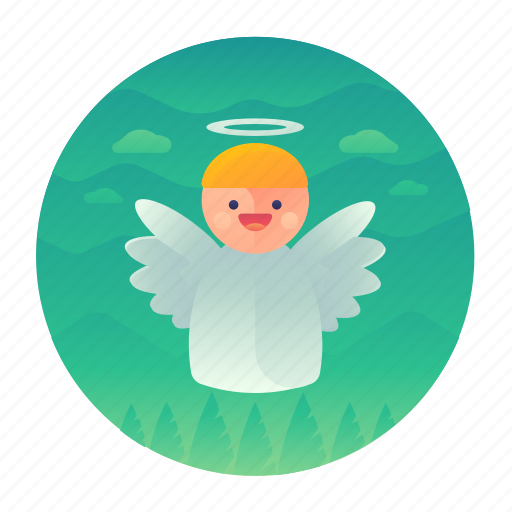 angel, christmas, decoration icon