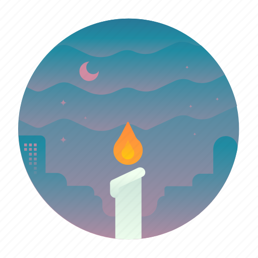candle, christmas, fire, flame, light icon