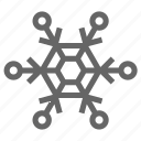 christmas, cold, flake, ice, snowflake, winter icon