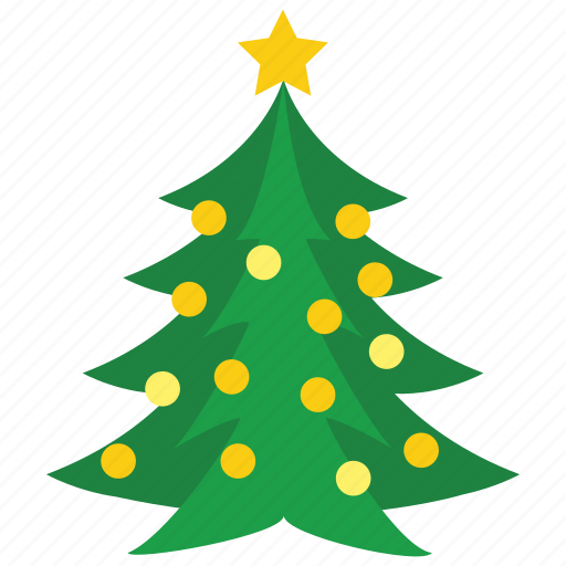Christmas Tree Icon.Merry Christmas By Siwat V