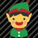 character, christmas, christmas elf, elf, fantasy, santa assistant, xmas icon
