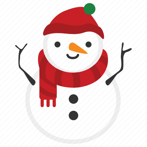 christmas, doll, happy, snow, snowman, winter, xmas icon