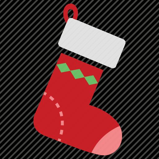 christmas, christmas sock, christmas stocking, decoration, gift, merry, sock icon
