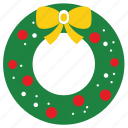 celebration, christmas, christmas wreath, decoration, happy, winter, wreath icon
