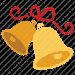 bells, celebration, christmas, decoration, holiday, wedding, xmas icon