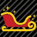 christmas, christmas sleigh, merry, santa sleigh, slay, sleigh, xmas icon