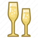 celebration, champagne, christmas, drink, glass, new year, xmas icon