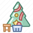 christmas, decoration, holiday, new year, tree, winter, xmas icon