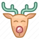 christmas, deer, head, new year, rudolf, santa, xmas