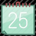 calendar, celebration, christmas, date, holiday, santa, xmas icon