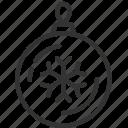 ball, christmas, snowflake icon