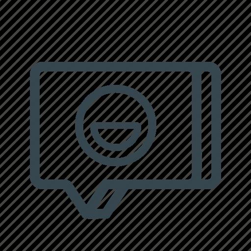 chat, emoji, emoticon, message, smiley, sticker, text icon