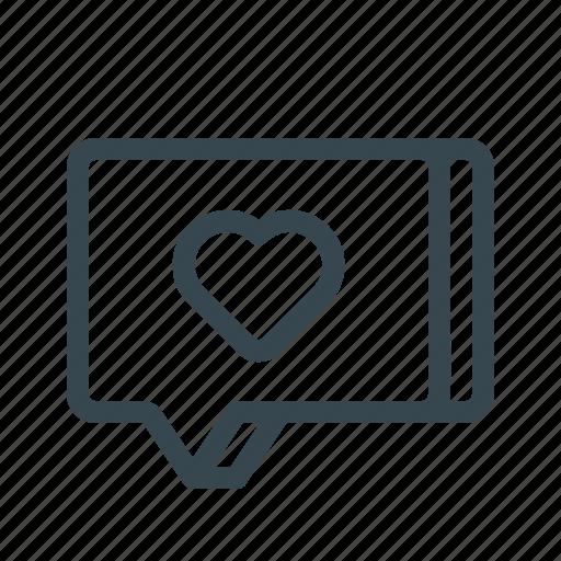 chat, favorite, flirt, love, message, talk, text icon