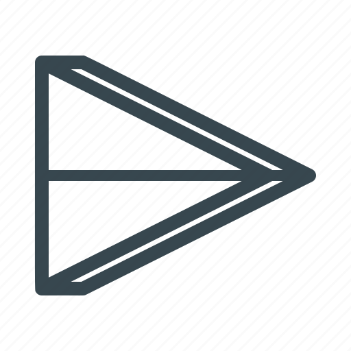 arrow, deliver, mail, message, paper plane, pointer, send icon