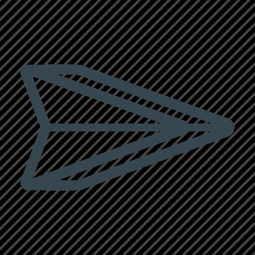 arrow, deliver, mail, message, paper plane, pointer, send icon