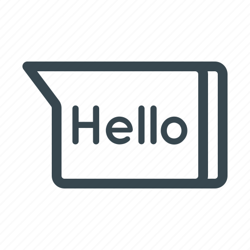 chat, conversation, greeting, hello, message, salutaion, text icon