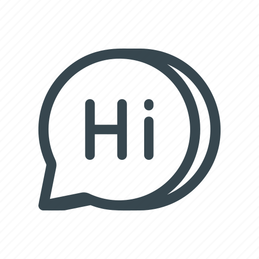 chat, conversation, greeting, hi, message, salutation, text icon
